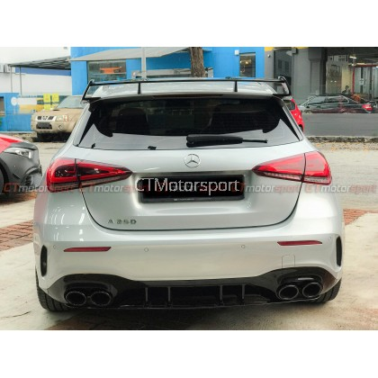Mercedes Benz A-Class W177 Installed A45s Style Rear Diffuser