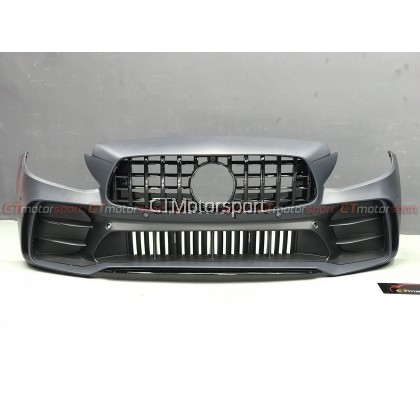 Mercedes Benz W205 Installed Black Mamba Style Front Bumper