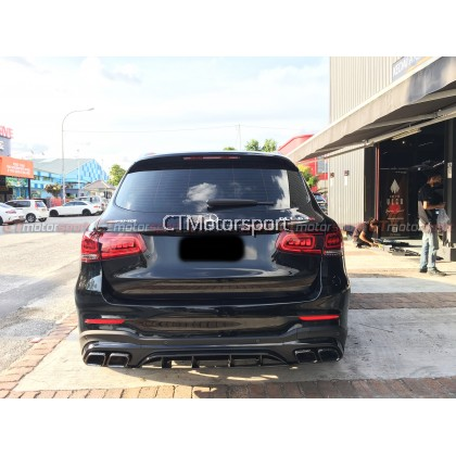 Mercedes Benz GLC SUV X253 Installed GLC63 Rear Diffuser