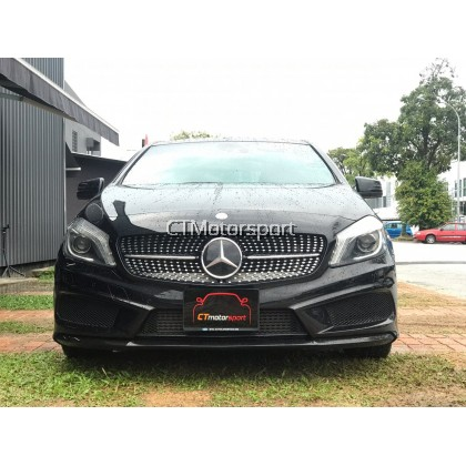 Mercedes Benz A200 A250 A45 W176 Installed Front Diamond Grill AMG