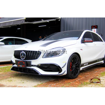 Mercedes A200 A250 A45 W176 Installed A45 Style Front Lip Canard Kit