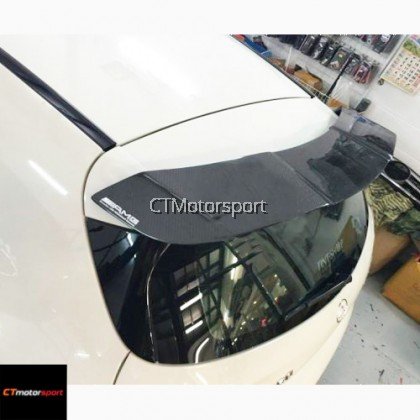 Mercedes Benz A200 A250 A45 W176 Installed Revozport Carbon Fiber Spoiler